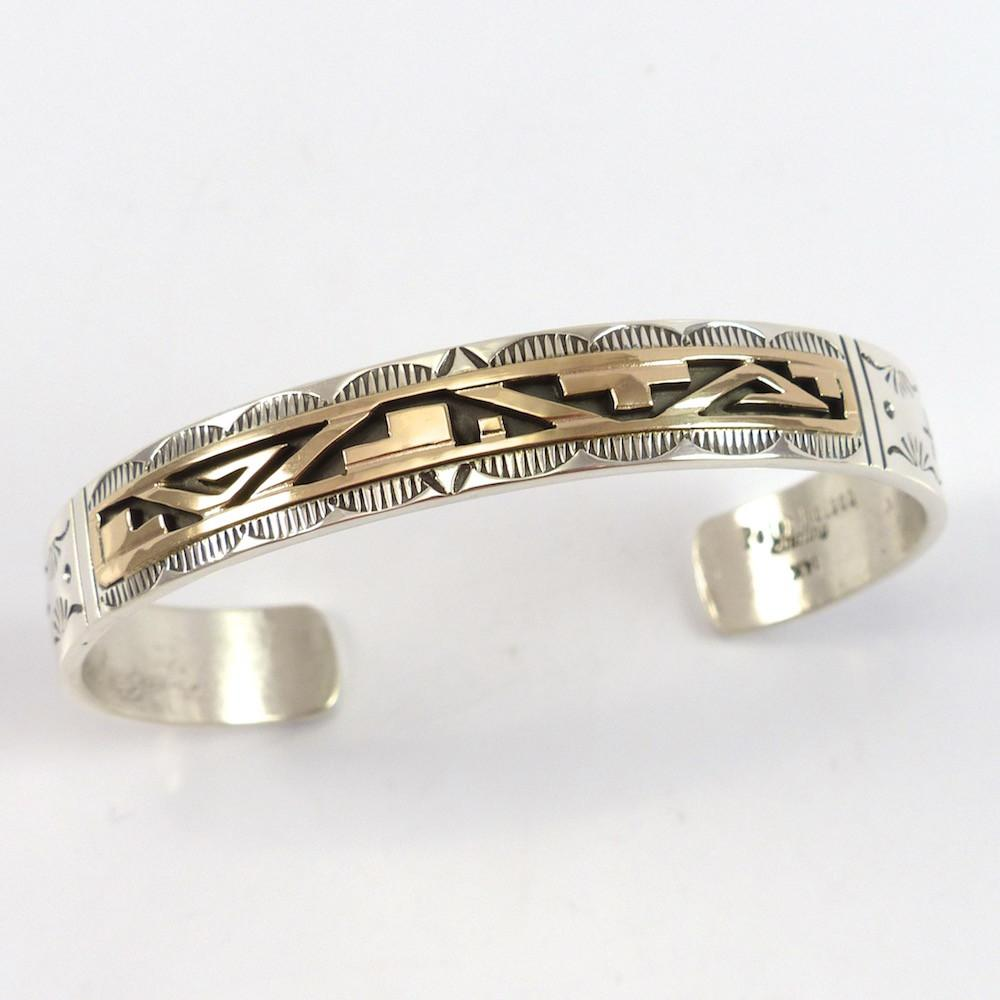 Gold on Silver Cuff - Jewelry - Peter Nelson - 1