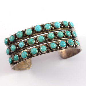1950s Turquoise Cuff - Jewelry - Vintage Collection - 1