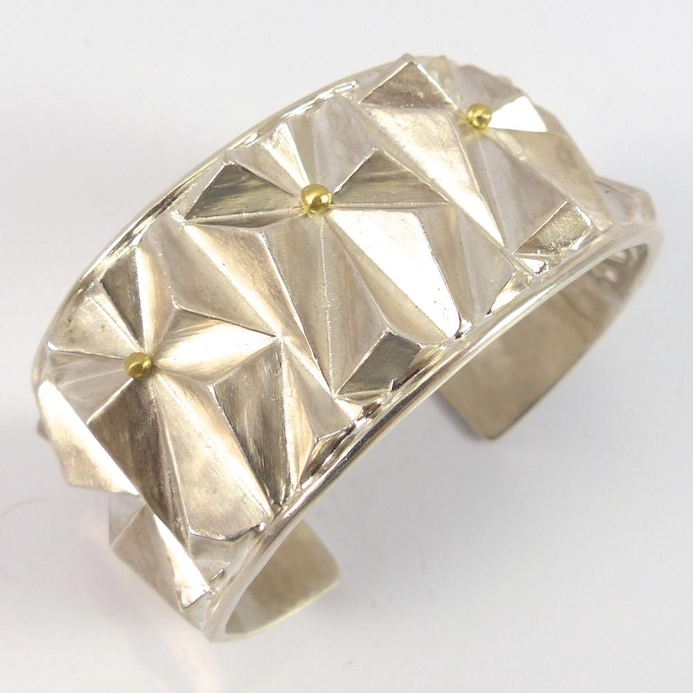 Pyramid Cuff - Jewelry - Glenda Loretto - 1