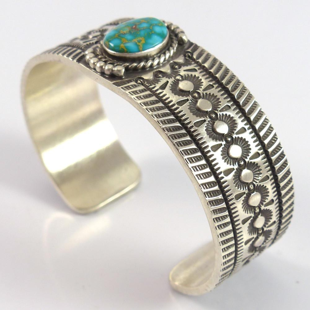 Carico Lake Turquoise Cuff - Jewelry - Herman Smith - 1