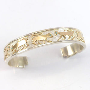 Gold on Silver Cat Cuff - Jewelry - Robert Taylor - 1