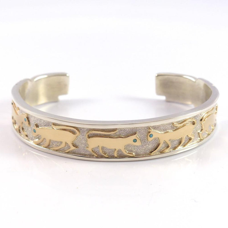 Gold on Silver Cat Cuff - Jewelry - Robert Taylor - 3