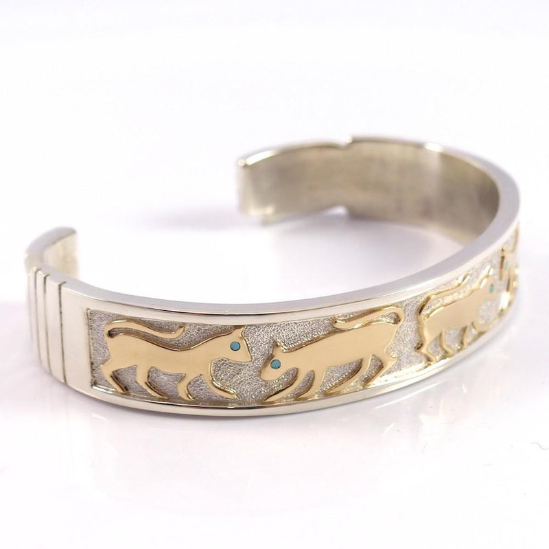 Gold on Silver Cat Cuff - Jewelry - Robert Taylor - 4