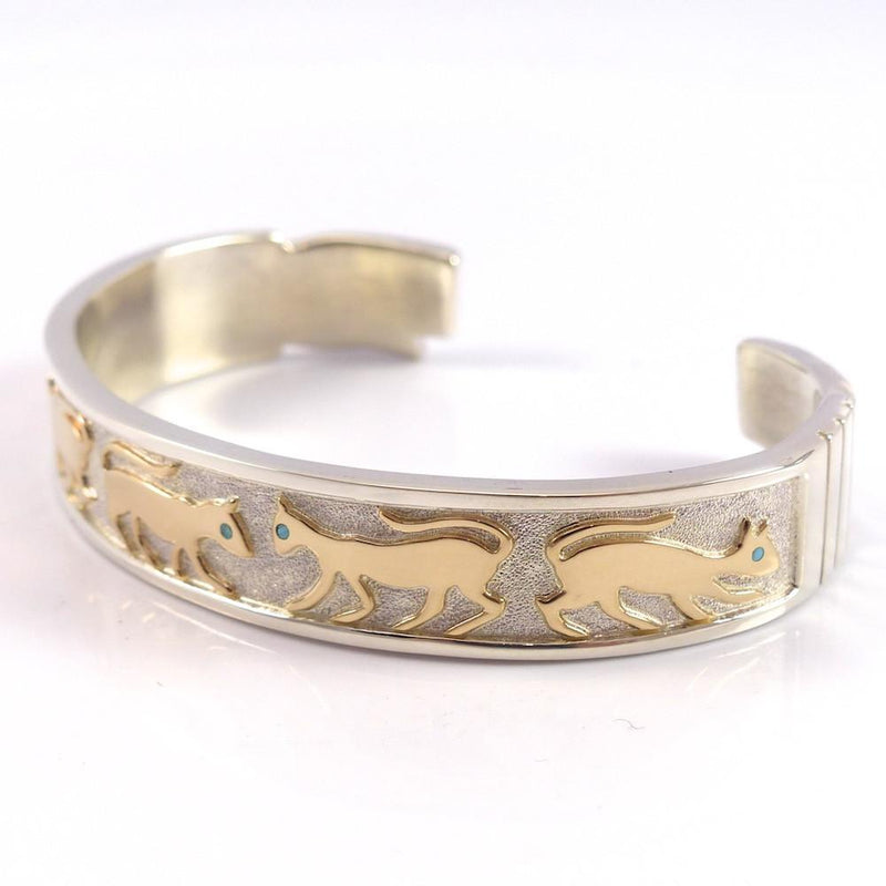 Gold on Silver Cat Cuff - Jewelry - Robert Taylor - 5