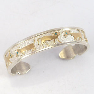 Gold on Silver Cuff - Jewelry - Robert Taylor - 1