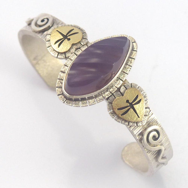Amethyst Dragonfly Cuff, Myron Panteah, Garland's Indian Jewelry