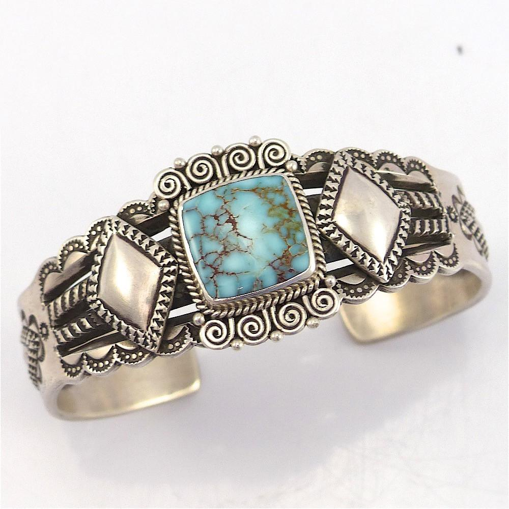 Kingman Turquoise Cuff -  - Perry Shorty - 1