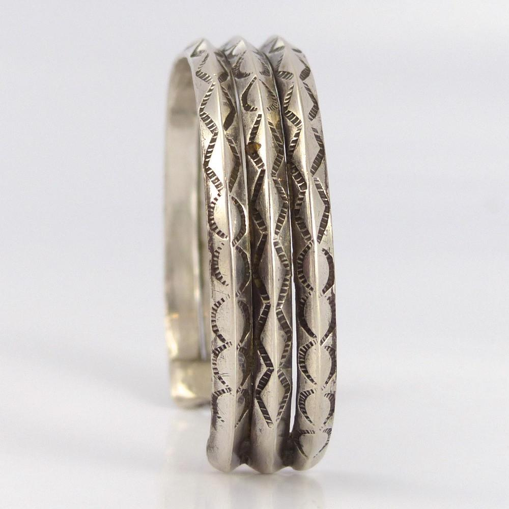 Stamped Silver Cuff - Jewelry - Vintage Collection - 1