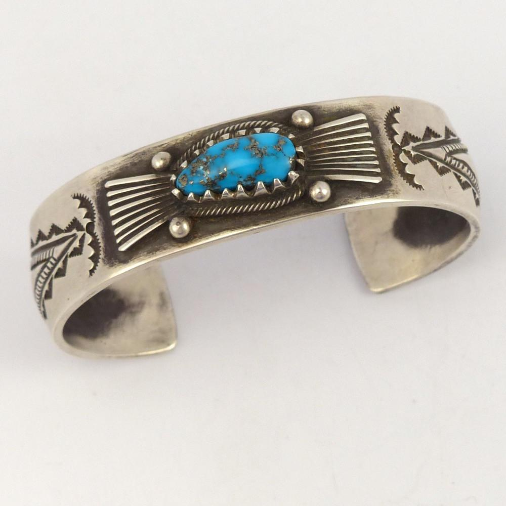 Morenci Turquoise Cuff - Jewelry - Arland Ben - 1