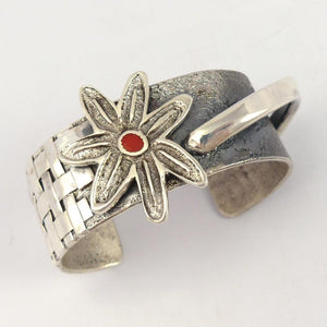 Coral Flower Cuff - Jewelry - Alethia Little Crawford - 1