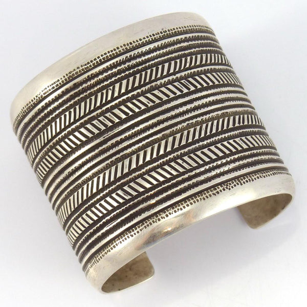 Stamped Silver Cuff - Jewelry - Edison Cummings - 1