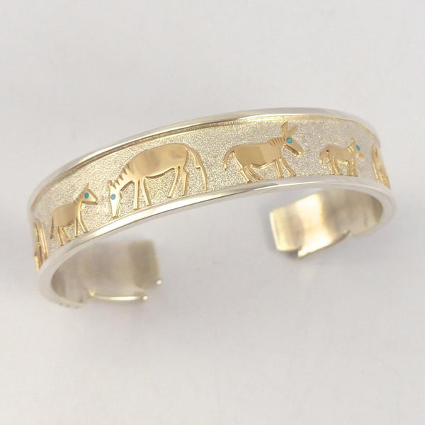 Gold on Silver Cuff - Jewelry - Sean Taylor - 1