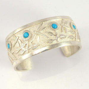 Turquoise Dragonfly Cuff - Jewelry - Philbert Begay - 1