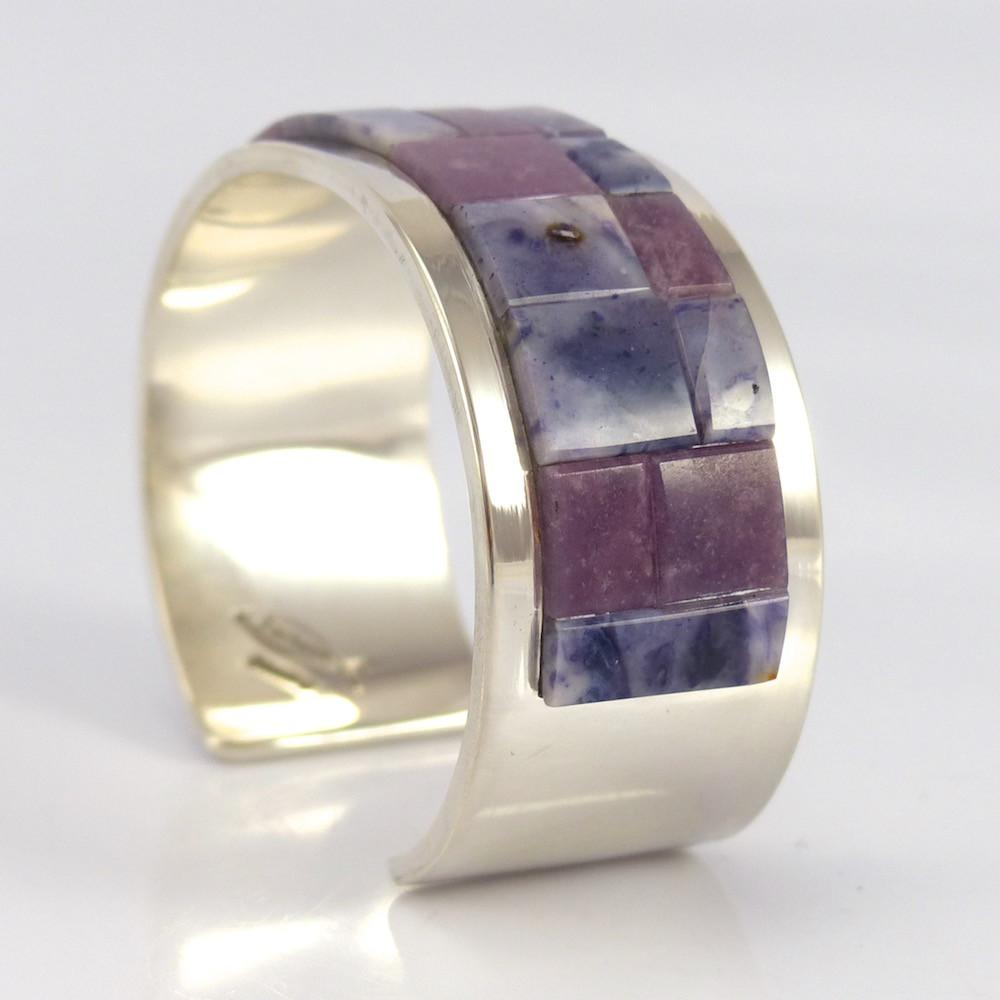 Beryllium and Lepidolite Cuff - Jewelry - Tommy Jackson - 1