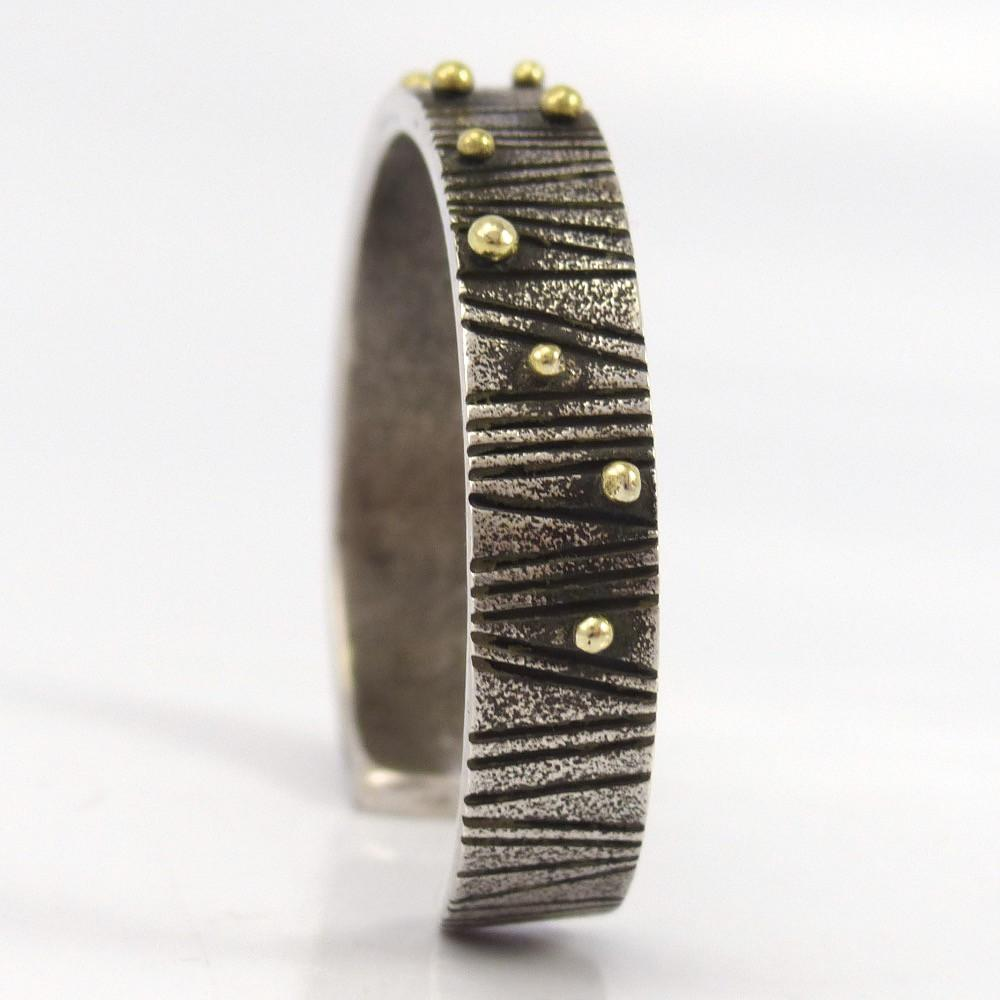 Cast Gold on Silver Cuff - Jewelry - Noah Pfeffer - 1