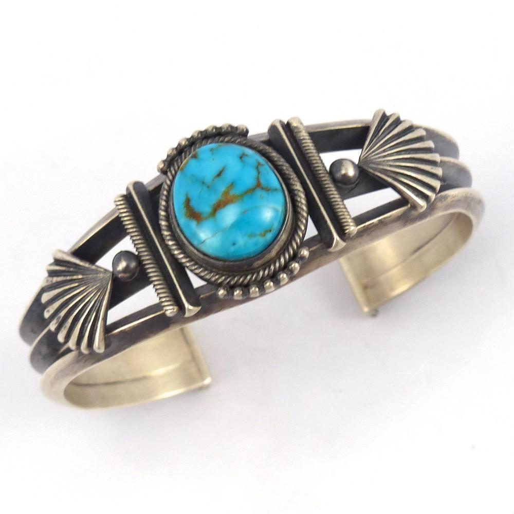 Candelaria Turquoise Cuff - Jewelry - Steve Arviso - 1