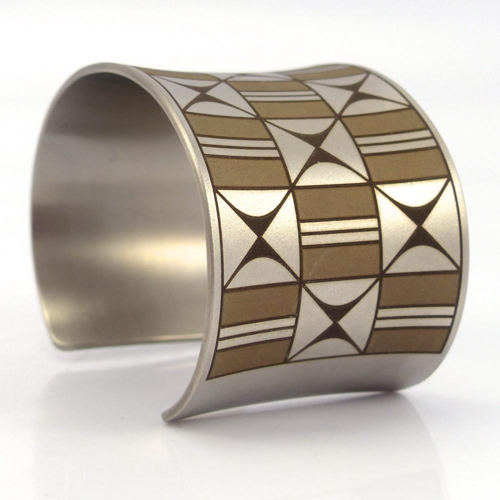 Pottery Design Cuff - Jewelry - Pat Pruitt - 1