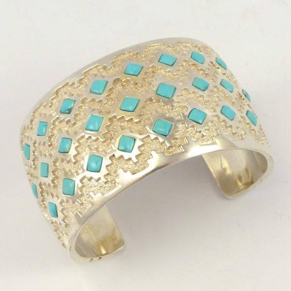 Morenci Turquoise Cuff, Michael Perry, Jewelry, Garland's Indian Jewelry