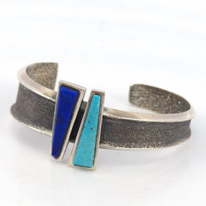 Turquoise and Lapis Cuff, Noah Pfeffer, Jewelry, Garland's Indian Jewelry