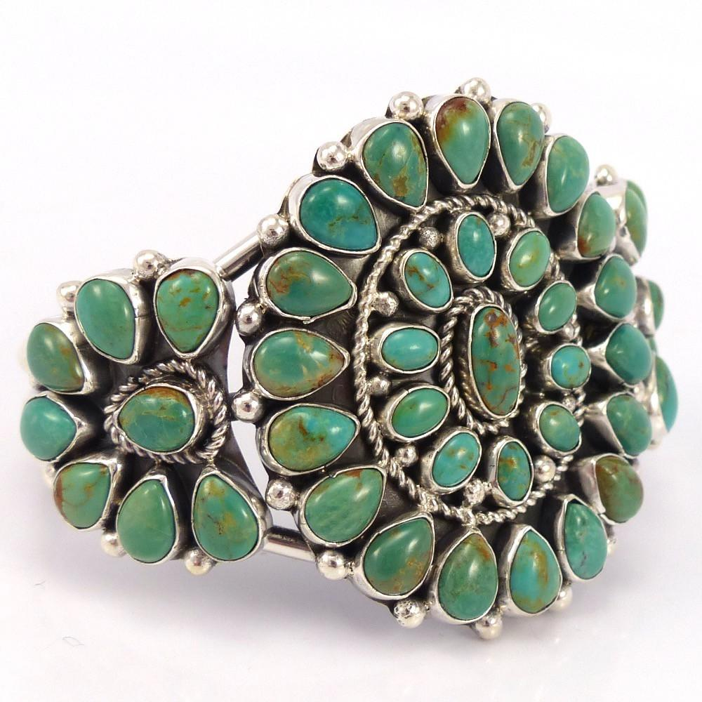 Kingman Turquoise Cuff, Clarissa and Vernon Hale, Jewelry, Garland's Indian Jewelry