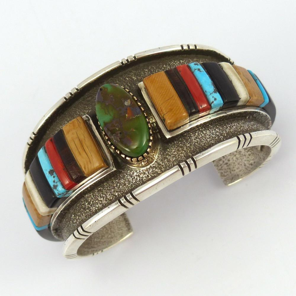 Cobbled Inlay Cuff, Edison Cummings, Jewelry, Garland's Indian Jewelry