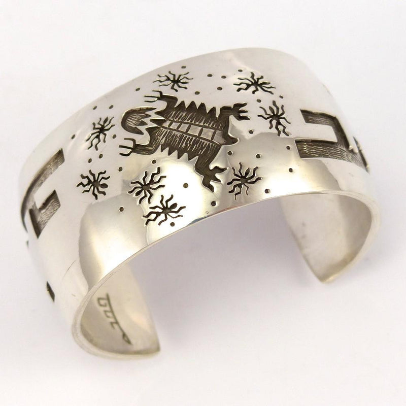 Silver Overlay Cuff, Rick Manuel, Jewelry, Garland's Indian Jewelry