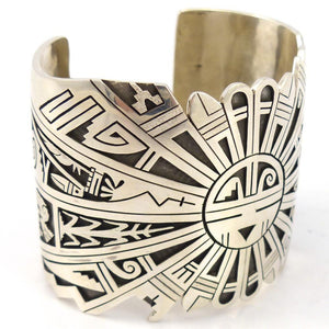 Sunface Overlay Cuff, Berra Tawahongva, Jewelry, Garland's Indian Jewelry