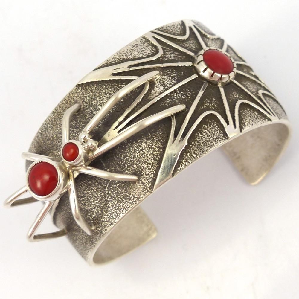 Coral Spider Cuff, Fidel Bahe, Jewelry, Garland's Indian Jewelry