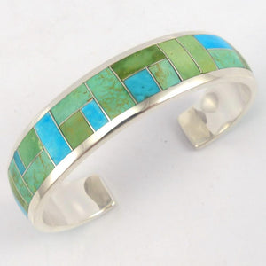 Turquoise Link Cuff, Peterson Chee, Jewelry, Garland's Indian Jewelry