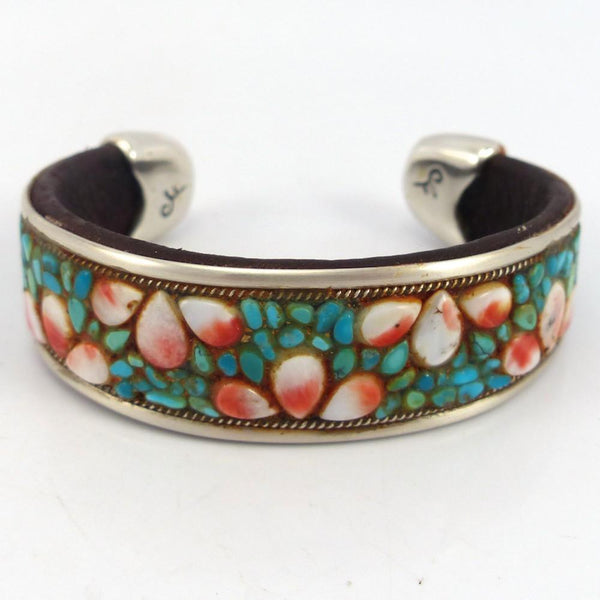 Inlay Cuff, Charlie Favour, Jewelry, Garland's Indian Jewelry