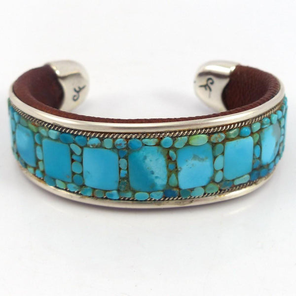 Turquoise Inlay Cuff, Charlie Favour, Jewelry, Garland's Indian Jewelry