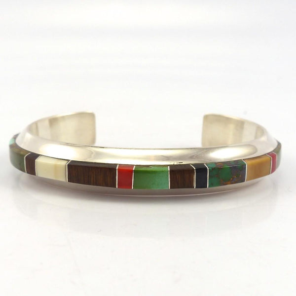 Multi-Stone Inlay Cuff, Wes Willie, Jewelry, Garland's Indian Jewelry