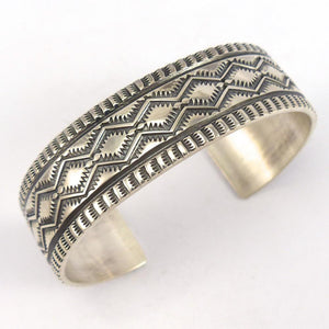 Stamped Silver Cuff, Sunshine Reeves, Jewelry, Garland's Indian Jewelry