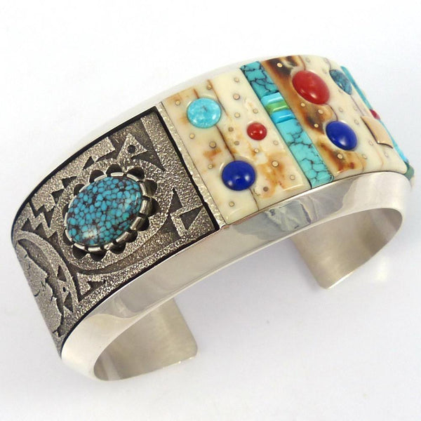Mosaic Inlay Cuff, Boyd and Richard Tsosie, Jewelry, Garland's Indian Jewelry