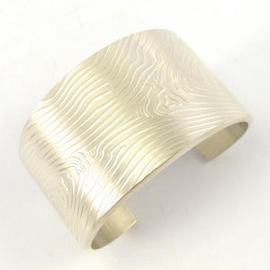 Silver Wood Grain Cuff, Chris Pruitt, Jewelry, Garland's Indian Jewelry
