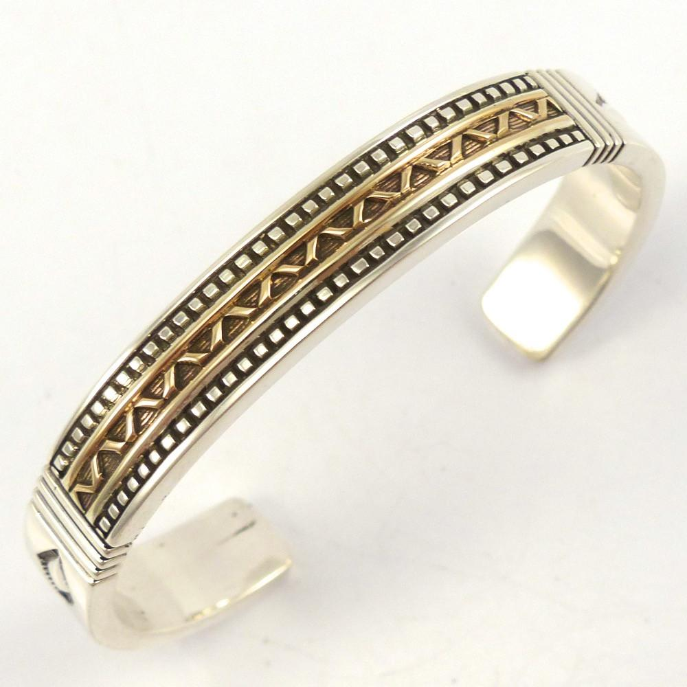 Gold on Silver Cuff, Jennifer Curtis, Jewelry, Garland's Indian Jewelry
