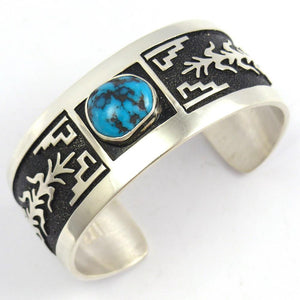 Tyrone Turquoise Cuff, Philbert and Rita Begay, Jewelry, Garland's Indian Jewelry