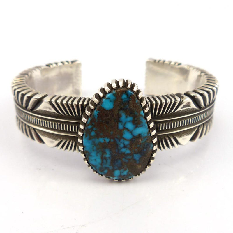 Kingman Turquoise Cuff, Ron Bedonie, Jewelry, Garland's Indian Jewelry