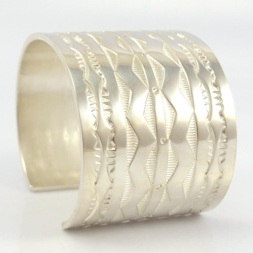 Stamped Silver Cuff, Chris Pruitt, Jewelry, Garland's Indian Jewelry