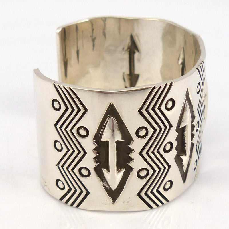 Stamped Silver Cuff, Jennifer Curtis, Jewelry, Garland's Indian Jewelry