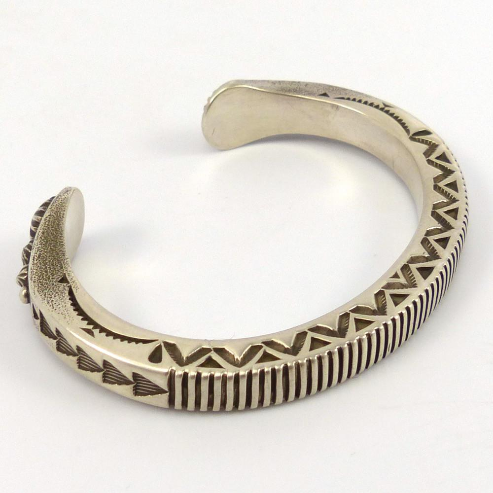 Stamped Silver Cuff, Karl Nataani, Jewelry, Garland's Indian Jewelry