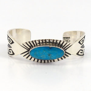 Kingman Turquoise Cuff, Mary and Everett Teller, Jewelry, Garland's Indian Jewelry