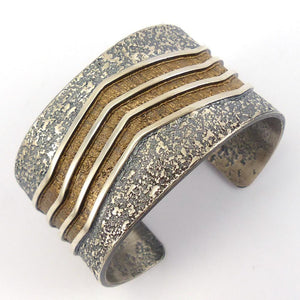 Cast Silver Cuff, Mark Roanhorse Crawford, Jewelry, Garland's Indian Jewelry