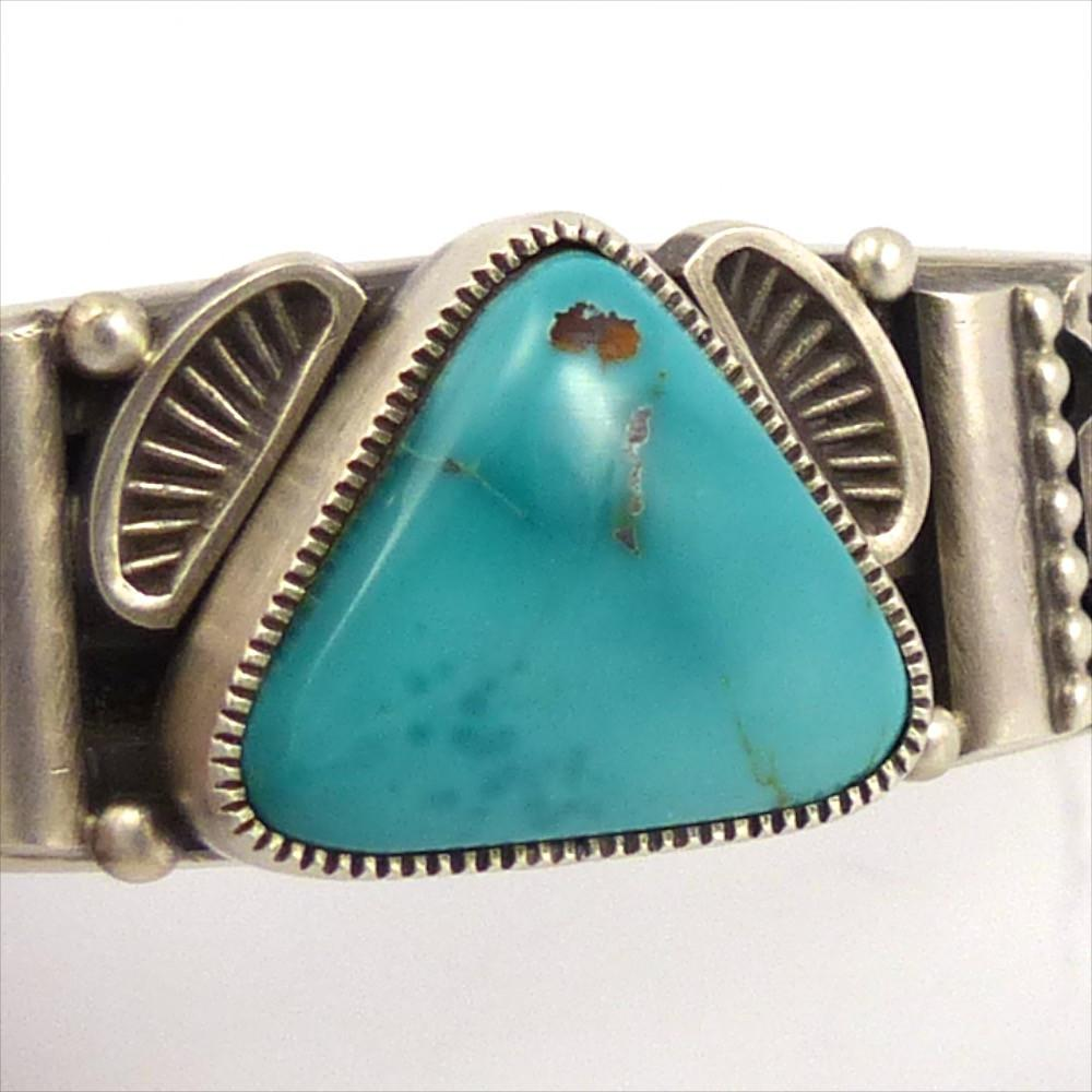 Easter Blue Turquoise Cuff, Sammie Kescoli Begay, Jewelry, Garland's Indian Jewelry