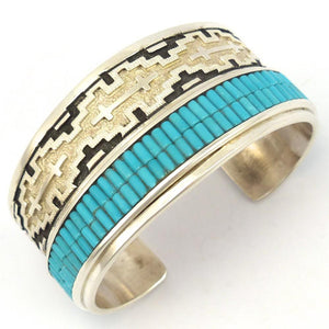 Turquoise Heishi Cuff, Dan Jackson, Jewelry, Garland's Indian Jewelry