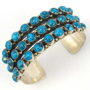 Kingman Turquoise Cuff, Don Lucas, Jewelry, Garland's Indian Jewelry