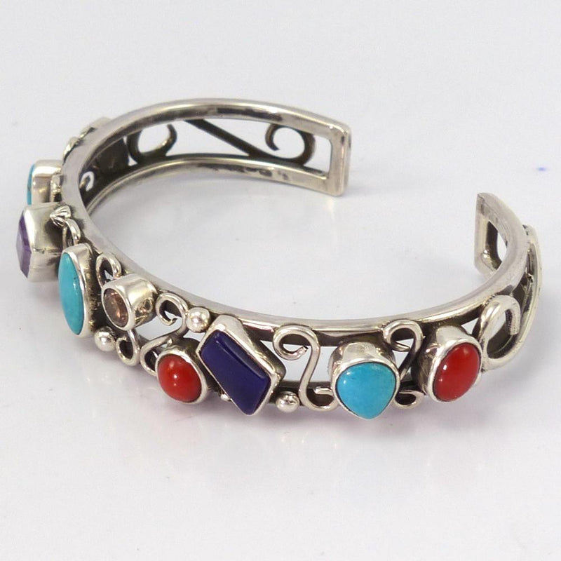 Multi-Stone Cuff, Noah Pfeffer, Jewelry, Garland's Indian Jewelry
