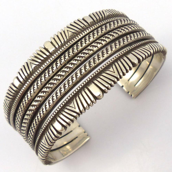 Filed Silver Cuff, Ron Bedonie, Jewelry, Garland's Indian Jewelry