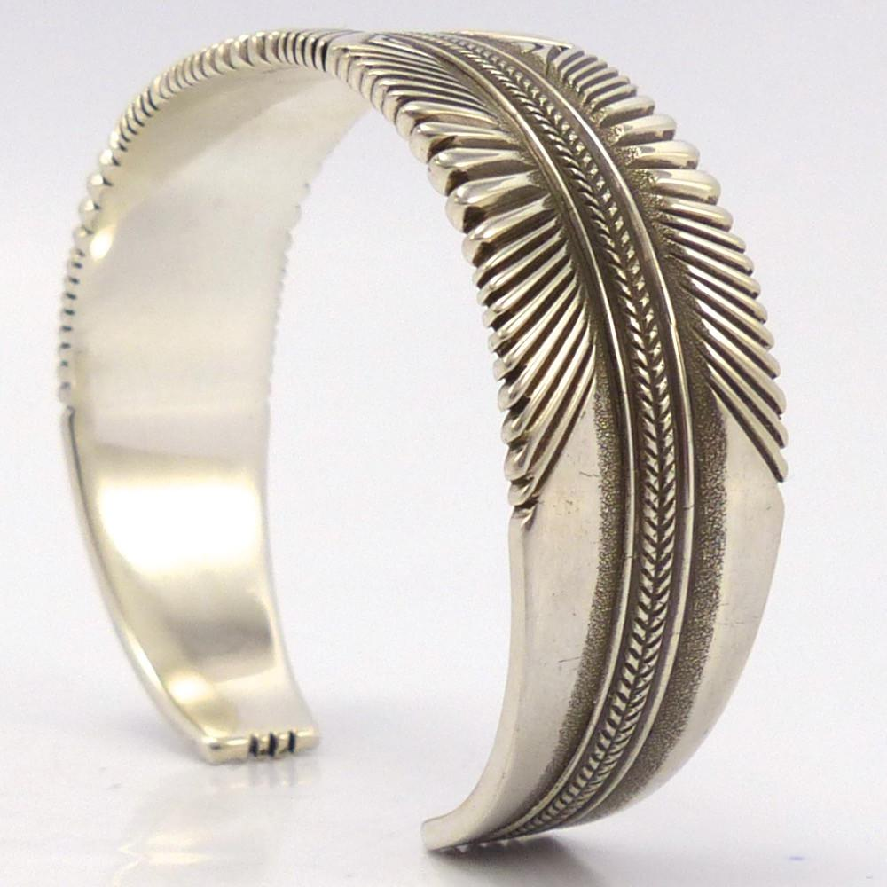 Stamped Silver Cuff, Ron Bedonie, Jewelry, Garland's Indian Jewelry