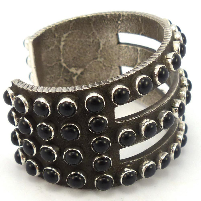 Onyx Row Cuff, Ernest Rangel, Jewelry, Garland's Indian Jewelry